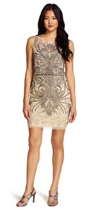 Adrianna Papell Beaded Party Nude Dress
