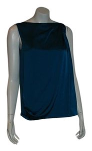 Vince Womens Navy Tank Top TEAL