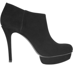 Tory Burch Platform Suede Leather Black Boots