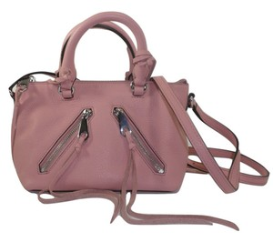 Rebecca Minkoff Mini Leather Soft Satchel in Pink