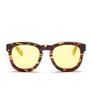 Wildfox New $179 Wildfox Wayfarer Sunglasses Classic Fox Deluxe Montage Gold Mirror