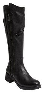 Vera Wang Lavender Label Leather Moto Equestrian Black Boots
