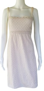 Max Studio short dress Ivory Cotton Eyelet Empire Waist on Tradesy