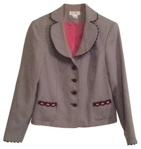 Worthington Black/ pink/ white Blazer