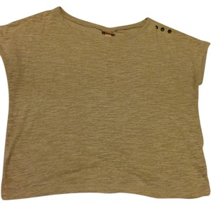Mossimo Supply Co. Crop T Casual T Shirt Beige
