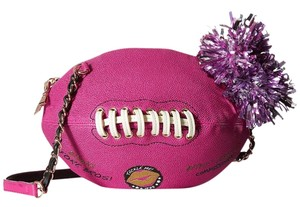 Betsey Johnson Football Design Pom Poms Cross Body Bag