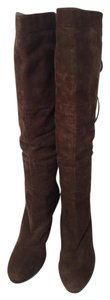 Sam Edelman Leather Suede Slouch Brown Boots