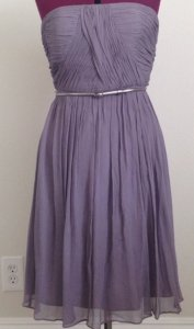 Donna Morgan Gray Donna Morgan Strapless Chifon With Belt Dress