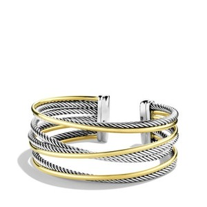 David Yurman David Yurman Gold 4-Row Crossover Cuff with Gold - Retail $2100