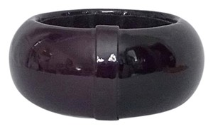 Cära Couture Jewelry Cara Couture Bangle Bracelet Deep Dark Purple Patent Chunky Wide