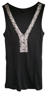 Express Sequin Embellished Top Black