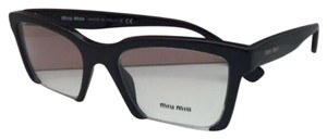 Miu Miu New MIU MIU Eyeglasses VMU 04N UFX-1O1 52-20 140 Black Cat-Eye Frame
