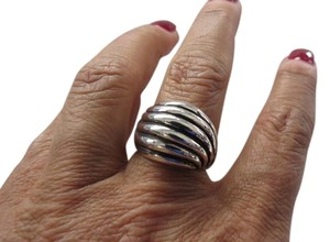 David Yurman Sterling Silver Sculpted Cable Dome Ring