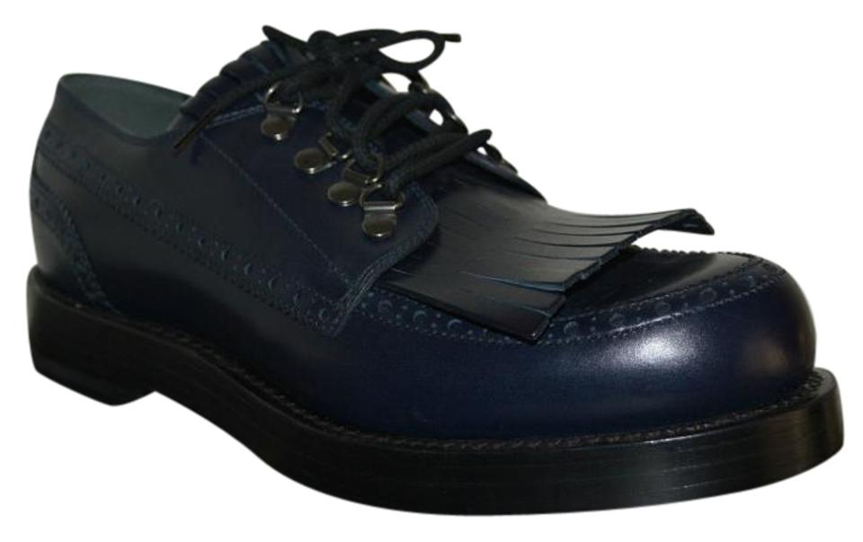d65a07883 Gucci Blue Mens Goodyear Lace Up Leather Oxfords Eu 42 Formal Shoes ...