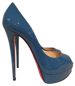 Christian Louboutin Patent Leather Stiletto blue Pumps