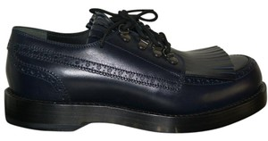 Gucci Oxford Mens Leather Blue Formal