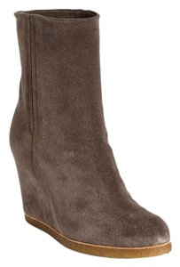 Stuart Weitzman Suede Leather Seal Boots