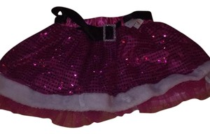 Icing Santa Sequinned Mini Skirt red