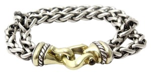 David Yurman David Yurman Sterling Silver & 14K Double Wheat Buckle Bracelet