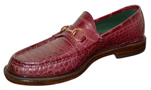 Gucci Mens Leather Mens Crocodile Mens Loafers Formal