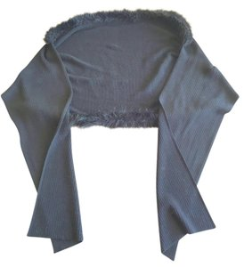 Other Shawl with faux fur trim