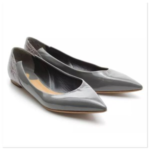 Chloé Chloe Patent Business Conservative Grey Flats
