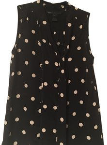 Marc by Marc Jacobs Mbmj Silk Top black and white polka dot