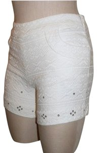 Elevenses Anthropologie Sequin Date Night Night Out Dress Shorts ivory