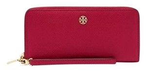 Tory Burch Perry leather zip passport continental wallet