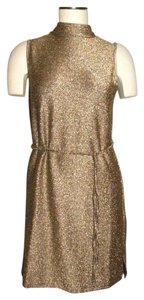 Topshop Metallic Dress