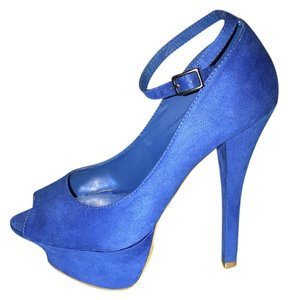 Penny Loves Kenny Royal Blue Platforms