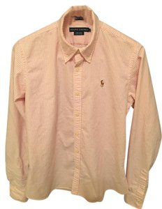 Ralph Lauren Button Down Shirt Pink/White stripes