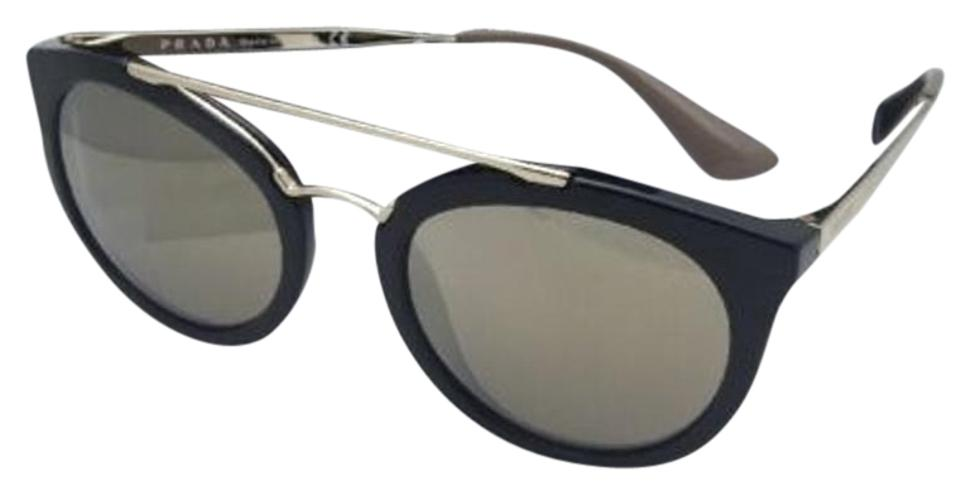 5eaa9325a Prada New PRADA Sunglasses SPR 23S 1AB-1C0 52-22 Black & Gold w ...
