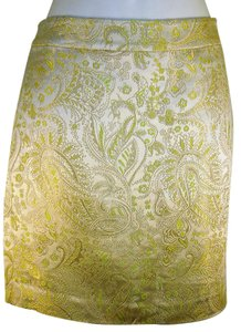 Banana Republic Paisley Mini Skirt Multi-Color