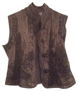 Flashback Couture Button Down Shirt Brown