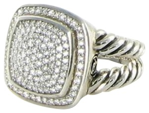 David Yurman David Yurman Albion Ring 14mm Pave Diamond 1.20cts 925