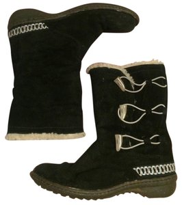 UGG Australia Winter Black and Tan Boots