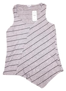 Splendid Asymmetrical Striped Top grey