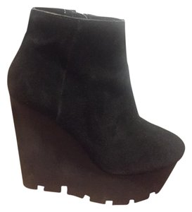 Cheap Monday Platform Suede Chunky black Boots