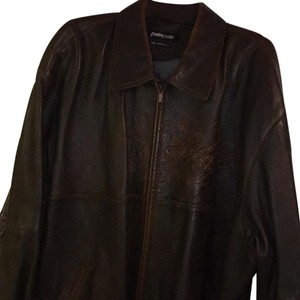 Pelle Pelle Brown with gold stiching Leather Jacket