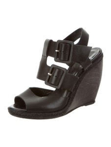 Pierre Hardy Black leather Wedges