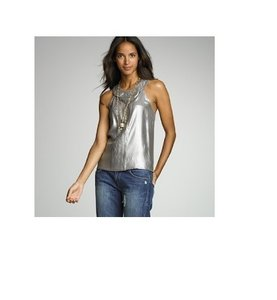 J.Crew Metallic Top SILVER METALLIC
