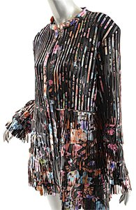 Caban Romantic Luxury Coat Multi Fringe Fringe Leather Multi Color Leather Jacket