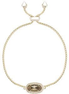 Kendra Scott NWT. Yellow Gold Tone Pyrite Eve Bracelet