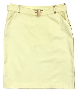 Fendi Mini Skirt Yellow