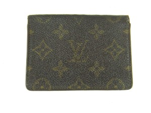 Louis Vuitton Porte 2 Cartes Monogram Canvas Leather Slim Credit ID Wallet w/ Box