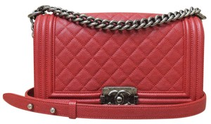 Chanel Caviar Medium Le Boy Shoulder Bag