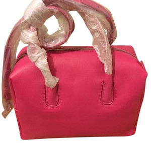 MCM Munich Boston Pink Leather Tote in Beerroot Pink