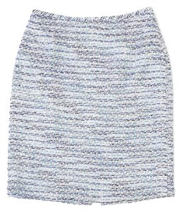 Elie Tahari Mini Skirt Blue, White