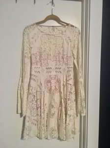 Free People short dress Ivory Lace on Tradesy